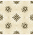 seamless vintage nautical compass rose pattern vector image vector image