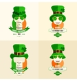 Set Lettering St Patricks Day vector image