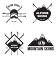 Set of Ski Club Vintage Mountain winter badges vector image vector image