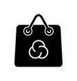 shopping paper bag pack icon simple style vector image