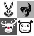 skulls set vector image vector image