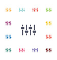 sound mixer flat icons set vector image