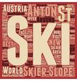 St Anton in Austria text background wordcloud