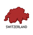 swiss contour map in color national flag vector image vector image