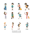 Traveler people eps10 format vector image