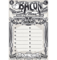 Vintage Page Bacon Menu for Restaurant vector image vector image