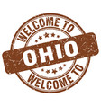 welcome to ohio brown round vintage stamp vector image vector image
