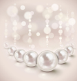 White pearls vector image