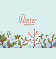 winter sale banner with text vector image