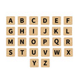 word puzzling game tiles vector image