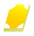 yellow book isolated on white background vector image vector image