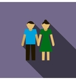 Young couple icon flat style vector image