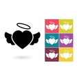 Heart icon or heart pictogram vector image