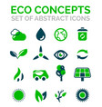 set of eco nature environmental icons vector image