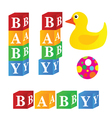 baby cubes toys vector image