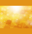 abstract bokeh orange color background vector image vector image