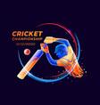 abstract of batsman playing vector image vector image