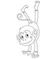 animal outline for monkey