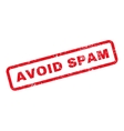 Avoid Spam Text Rubber Stamp vector image vector image