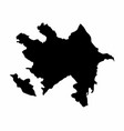 azerbaijan silhouette map vector image vector image