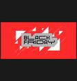 black friday banner modern background vector image