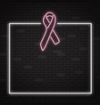 breast cancer awareness month banner with symbol vector image vector image