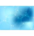 Bright blue hi-tech background vector image vector image