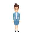 business woman standing cartoon employee vector image vector image