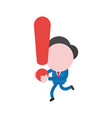 businessman character running and carrying vector image vector image