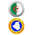 button as a symbol ALGERIA vector image