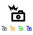 camera flash stroke icon vector image
