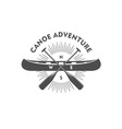 Canoe Aadventure Badge Design Element vector image