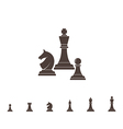 Chess Silhouette vector image