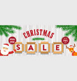 christmas sale banner 02 vector image vector image