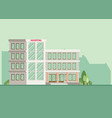 city hospital building in flat style vector image vector image