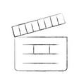 clapper board cinema icon vector image vector image