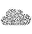 cloud collage of clock gear icons vector image