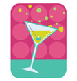 cocktail retro background vector image vector image