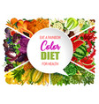 color diet food vegetable and fruit vector image vector image
