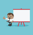 Concept Young African businessman with blackboard vector image vector image