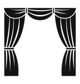 Curtain on stage icon simple style vector image vector image