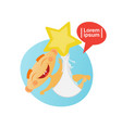cute baby boy sleeping toddler cartoon infant in vector image vector image