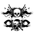 decorative art background with skull vector image vector image