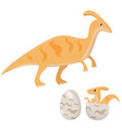 dinosaur family mama and baby vector image