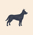 dog silhouette concept design home animals vector image