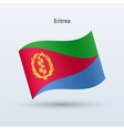 Eritrea flag waving form vector image vector image