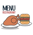 fast food restaurant menu isolated icon vector image vector image