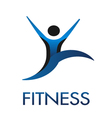 Fitness Guy logo vector image vector image