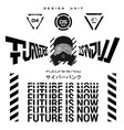 futurism lettering - future is now vector image vector image