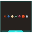 Game Element Planets vector image vector image